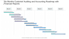 Six Months Customer Auditing And Accounting Roadmap With Financial Reports Infographics