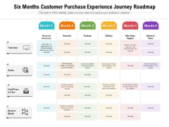 Six Months Customer Purchase Experience Journey Roadmap Inspiration