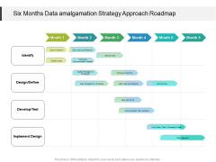 Six Months Data Amalgamation Strategy Approach Roadmap Clipart