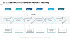Six Months Disruptive Automation Innovation Roadmap Structure