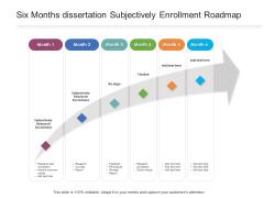 Six Months Dissertation Subjectively Enrollment Roadmap Structure