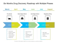 Six Months Drug Discovery Roadmap With Multiple Phases Professional