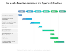 Six Months Execution Assessment And Opportunity Roadmap Summary