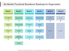 Six Months Functional Excellence Roadmap For Organization Guidelines