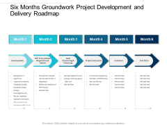 Six Months Groundwork Project Development And Delivery Roadmap Mockup
