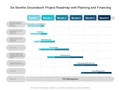 Six Months Groundwork Project Roadmap With Planning And Financing Themes