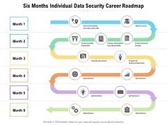 Six Months Individual Data Security Career Roadmap Slides