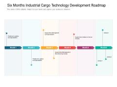 Six Months Industrial Cargo Technology Development Roadmap Designs
