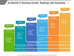 Six Months It Business Growth Roadmap With Awareness Information