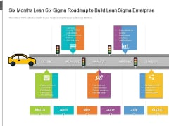 Six Months Lean Six Sigma Roadmap To Build Lean Sigma Enterprise Icons