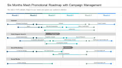 Six Months Mesh Promotional Roadmap With Campaign Management Pictures