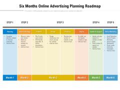 Six Months Online Advertising Planning Roadmap Information