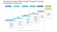 Six Months Online Patient Health Progress Tracking Therapeutic Roadmap Portrait