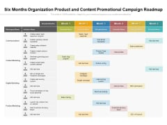 Six Months Organization Product And Content Promotional Campaign Roadmap Information