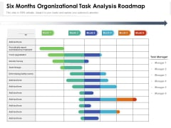 Six Months Organizational Task Analysis Roadmap Portrait