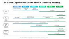 Six Months Organizational Transformational Leadership Roadmap Pictures