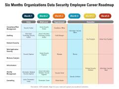 Six Months Organizations Data Security Employee Career Roadmap Ideas