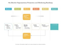 Six Months Organizations Promotion And Marketing Roadmap Diagrams
