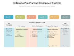 Six Months Plan Proposal Development Roadmap Microsoft