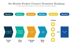 Six Months Product Creative Promotion Roadmap Designs