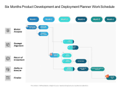 Six Months Product Development And Deployment Planner Work Schedule Diagrams