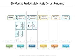 Six Months Product Vision Agile Scrum Roadmap Elements