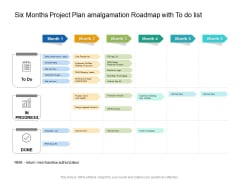 Six Months Project Plan Amalgamation Roadmap With To Do List Guidelines