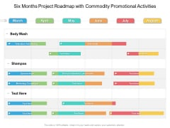 Six Months Project Roadmap With Commodity Promotional Activities Microsoft