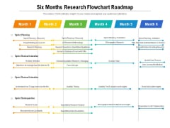 Six Months Research Flowchart Roadmap Infographics