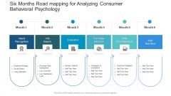 Six Months Road Mapping For Analyzing Consumer Behavioral Psychology Pictures