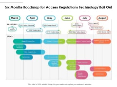 Six Months Roadmap For Access Regulations Technology Roll Out Summary