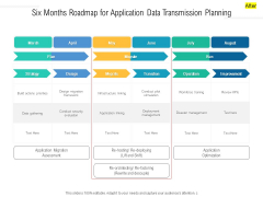 Six Months Roadmap For Application Data Transmission Planning Professional