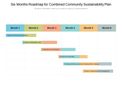 Six Months Roadmap For Combined Community Sustainability Plan Sample