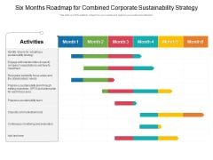 Six Months Roadmap For Combined Corporate Sustainability Strategy Elements