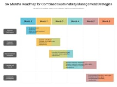 Six Months Roadmap For Combined Sustainability Management Strategies Elements