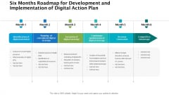 Six Months Roadmap For Development And Implementation Of Digital Action Plan Mockup