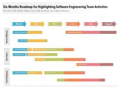Six Months Roadmap For Highlighting Software Engineering Team Activities Sample