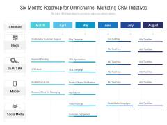 Six Months Roadmap For Omnichannel Marketing CRM Initiatives Demonstration