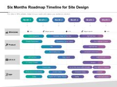 Six Months Roadmap Timeline For Site Design Background