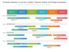 Six Months Roadmap To Long Term Company Trademark Building With Strategic Development Brochure
