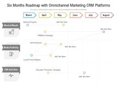 Six Months Roadmap With Omnichannel Marketing CRM Platforms Microsoft