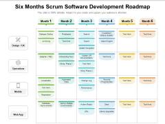 Six Months Scrum Software Development Roadmap Brochure