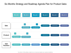 Six Months Strategy And Roadmap Agenda Plan For Product Sales Elements
