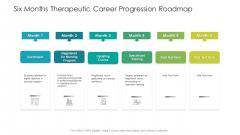 Six Months Therapeutic Career Progression Roadmap Formats