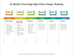 Six Months Three Stage Agile Online Change Roadmap Themes