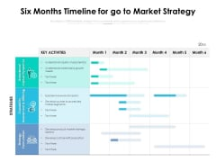 Six Months Timeline For Go To Market Strategy Ppt PowerPoint Presentation Pictures Slides PDF