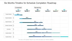 Six Months Timeline For Schedule Completion Roadmap Introduction