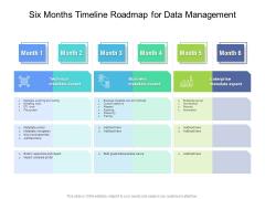 Six Months Timeline Roadmap For Data Management Demonstration