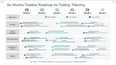Six Months Timeline Roadmap For Trading Planning Inspiration