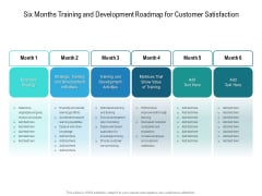 Six Months Training And Development Roadmap For Customer Satisfaction Ideas